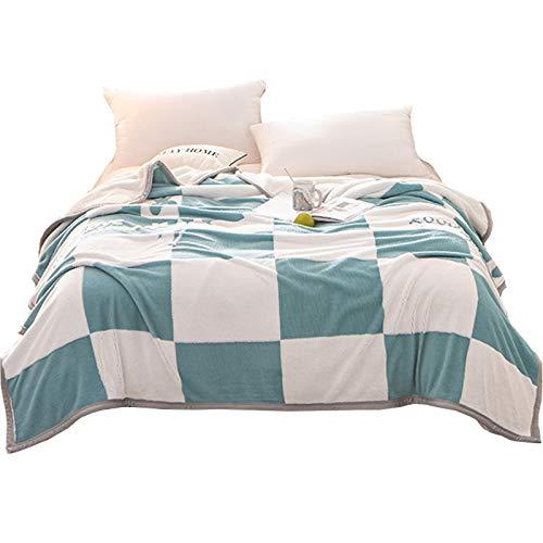 Manta gruesa para sofá de franela cálida y mullida para siesta, manta para TV, aire acondicionado, toalla pequeña, para oficina, hogar, rollsnownow (tamaño: 200 x 230 cm)