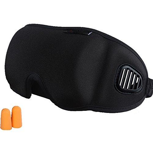 XXHDEE 3D-contourvorm voor slaapmasker en verstelbare schouderriem, goede nachtbril voor vrouwen, mannen, zachte en comfortabele oogmaskers voor reizen, laag en meditatie, slaapmasker