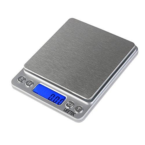 UEETEK 0.01g-500g Balanza de Precision Bascula Digital Para Alimento de la Cocina,Pesar...