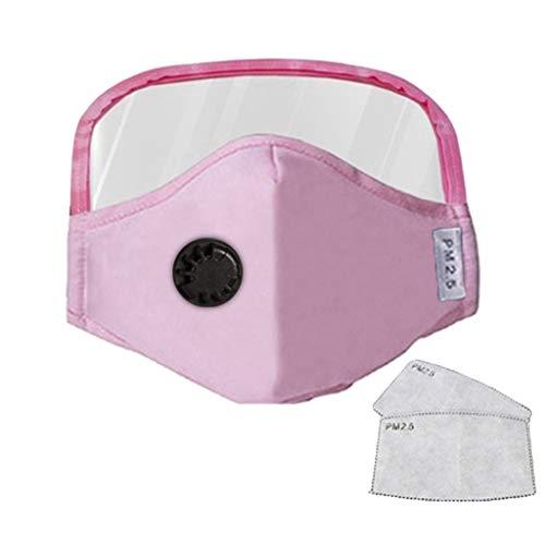 Humeng Abnehmbare Atemschutzventilfläche mit Augenschutz + 2 Filter Made in Germany