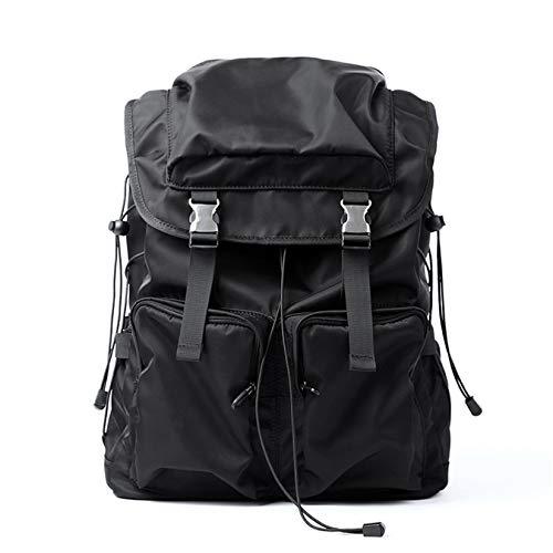 FENGBO Mochila para hombre, mochila plegable portátil ultraligera, impermeable, para acampar al aire libre, senderismo, viaje, mochila de viaje conveniente y duradera (negro)