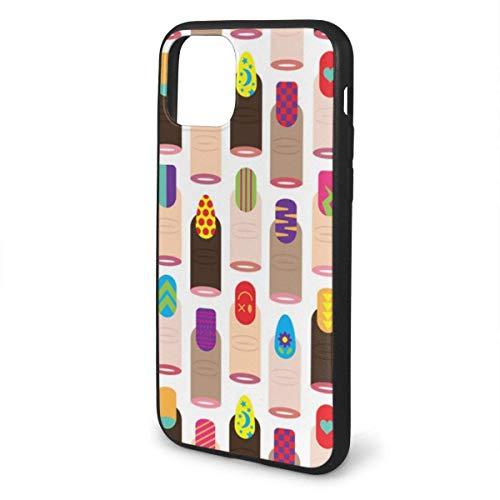N/A iPhone 11 hoesje Japans mode nagellak siliconen gel rubberen beschermhoes voor iPhone 11