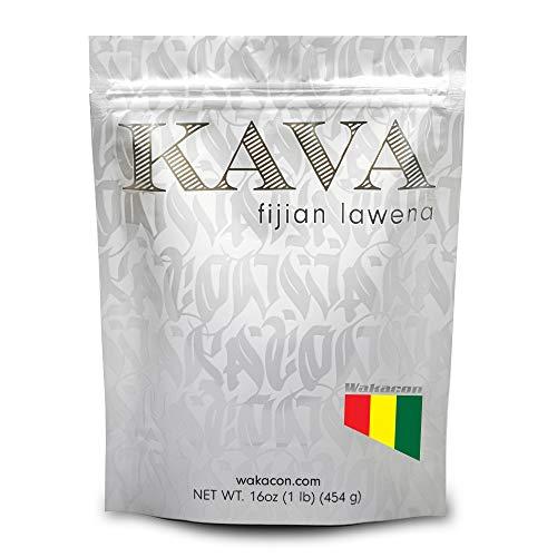 Wakacon KAVA LAWENA Powder - Fijian Noble Premium High Quality Kava Root Powder (16oz)