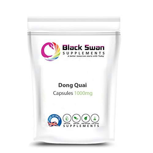 Black Swan Dong Quai 1000mg Capsule - with Anti-Inflammatory Properties - Support Menopausal Symptoms, Joint Health, and Anaemia - 1000mg Capsule (30 caps)
