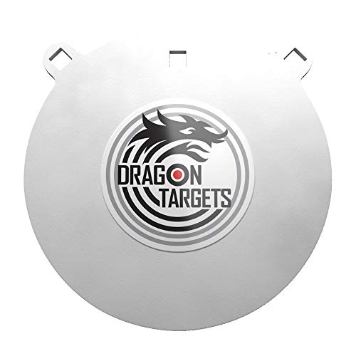 Dragon Targets AR500 Steel Targets for Shooting 1/2 Inch Thick Laser Cut, Painted AR500 Gong Targets for Shooting, Steel Targets Made in USA (10 in)