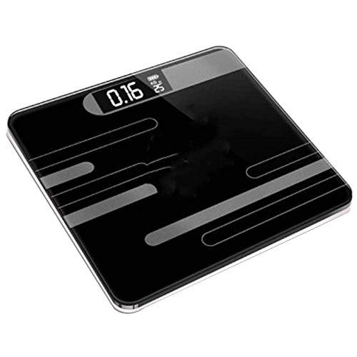 PYROJEWEL Balanza Báscula Cuerpo, Inteligente hogar Piso del Peso de Equilibrio electrónico Digital, Pantalla LCD, 180Kg, Negro