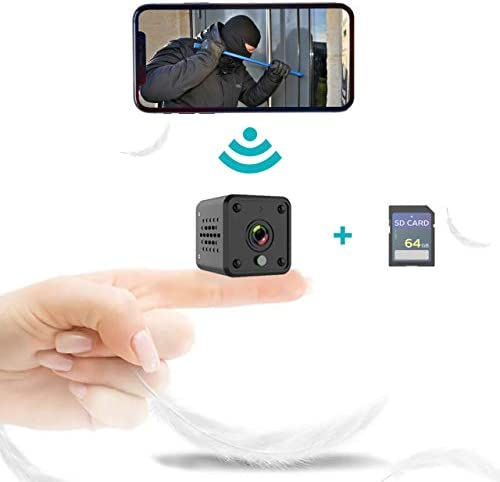 1080P Hidden Camera for Home Security with 64G SD Card Mini Camera WiFi Wireless Night Vision product image