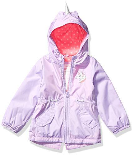Carter's Girls' Toddler Midweight Fleece Lined Anorak Jacket, Unicorn Hood Lilac, 2T