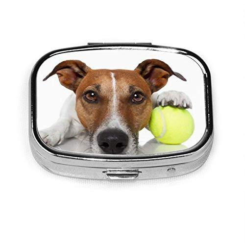 Pastillero cuadrado personalizado personalizado con forma de pelota de tenis para perros, animales salvajes y vida silvestre