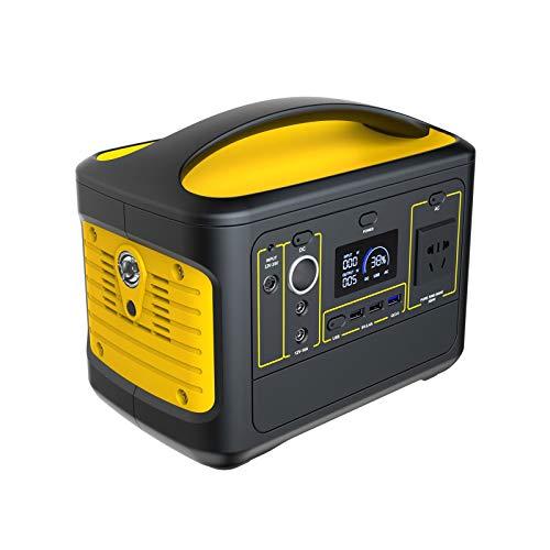 TWW Generador Portátil Recargable De 500Wh / 153600Mah Salida De CA Limpia Y Silenciosa para Carga Rápida, Camping, Emergencias, CPAP Y Más