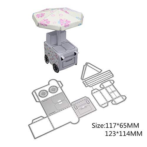 XuBa De schattige piano in stereo-stijl, ijs vrachtwagen, olifant, decoratieve box van koolstofstaal, om te knutselen