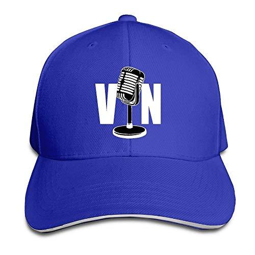 II Vin Scully Microphone Baseball Cap Royal Blue Sombreros y Gorras