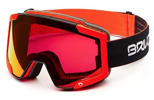 Briko Lava Fis 7.6 2 Lenses Unisex-Brille für Erwachsene Einheitsgröße F52M Blck Orng Fl/Rm3P1