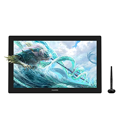 HUION Kamvas Pro 24 4K Tableta Gráfica con Pantalla,Monitor Interactivo 4K UHD de 23,8 Pulgadas con Minidial, Lápiz óptico sin Batería de 8192 Niveles, 140% sRGB, Compatible con Windows, Mac y Android