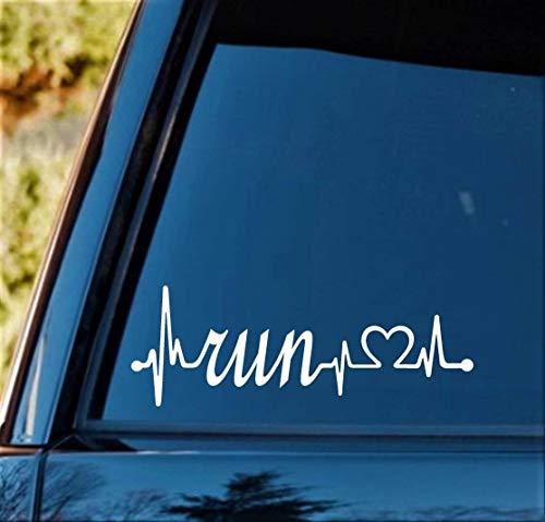 Best Design Amazing Run Heartbeat Lifeline Decal Sticker Marathon 131 262 Running Vinyl Decal Sticker and Stick Decals  Made in USA