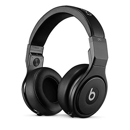 Beats by Dr Dre Pro Headphones - High Performance Professional Over-Ear Headphones, Infinite Black, Matt Finish (Renewed)