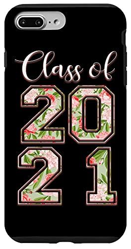 iPhone 7 Plus/8 Plus High School Class Of 2021 Floral Tee Senior Graduate Case