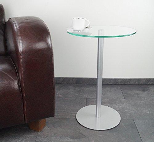 freeroom24 Beistelltisch/Couchtisch/Glastisch/rund JohannaXL Ø40 x H.60cm
