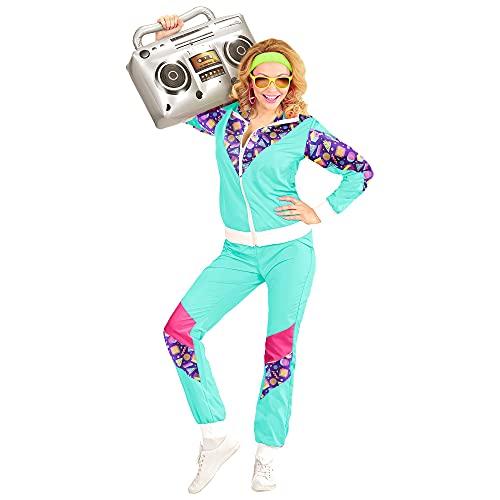 Widmann 00182 - Kostüm 80er Jahre Trainingsanzug, Jacke und Hose, angenehmer Tragekomfort, Assi Anzug, Proll Anzug, Retro Style, Bad Taste Party, 80ties, Karneval
