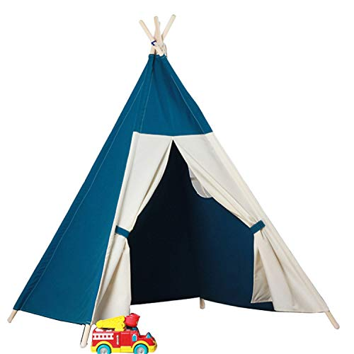 Tents Indian Teepee, Bedroom Play for Kids, Grow for Baby, Conical Play Reading Corner - Tale Teepee (Size : 120 * 120 * 160CM)