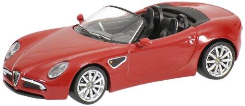 Minichamps - 640120530 - Véhicule Miniature - Alfa Romeo 8C Spider'08 - Rouge - Echelle 1/64