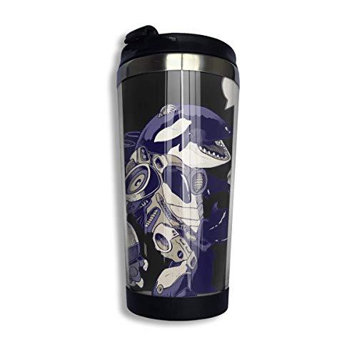 AOOEDM Cyb-Orca - Taza de viaje de café equipada con vaso de...