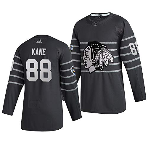 Herren T-Shirt Eishockey Uniform Chicago Blackhawks Kane #88 Youth Training Trikots Hockey Uniform Leichtathletik Shirts Gr. XXL, Bild
