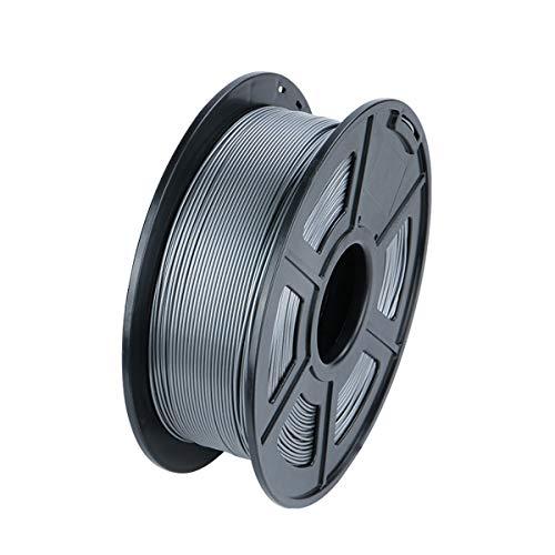 VOMI 1kg PLA 3D-Druckmaterialien Filament 1,75mm +/- 0,02 mm, PLA Filament 3D Drucker Filament für 3D Drucker/ 3D Stift, Verwicklung frei/Vakuumverpackung, 7 Farben (Grau)