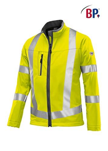 BP 2121-940-86-XL Softshell-Jacke, Stehkragen, Frontreißverschluss, 320,00 g/m² 100% Polyester, Warngelb, XL