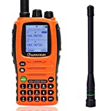 Wouxun KG-UV9D Mate 7 Bands/Air Band 10W 3200mAh Battery Cross Band Repeater Portable Radio Upgrade KG-UV9D Plus Two Way Radio+AR-775 Telescopic Antenna