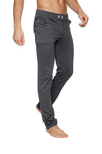 4-rth Mens Casual Dress Pant Yoga Pant (Medium, Charcoal)