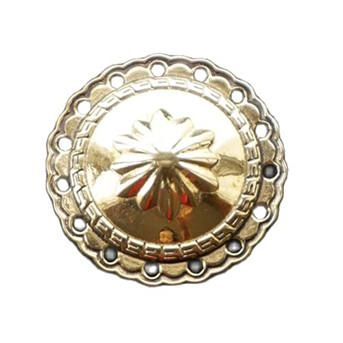 Floret - Botón de metal retro de latón antiguo de cobre para pantalones vaqueros de abrigo, chaqueta, botón...