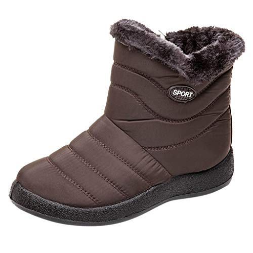 NMERWT Schneestiefel Damen Wasserdicht Schlupfstiefel Halbstiefel Warm Gummistiefel Winter Warm Gefüttert Klassisch Stiefel Boots