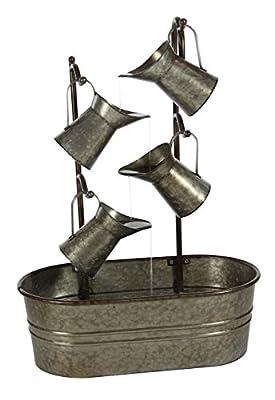 "Deco 79 Metal Fountain, Gray, 18"" x 15"""