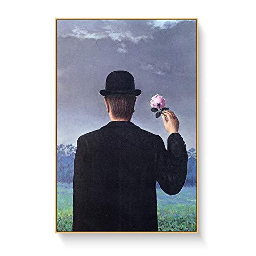 Magritte Artist Surrealist Malerei Druck Auf Leinwand Abstrakte Wandkunst Bild Für Wohnzimmer Dekoration Poster Und Prints50X70cm Kein Gestaltet
