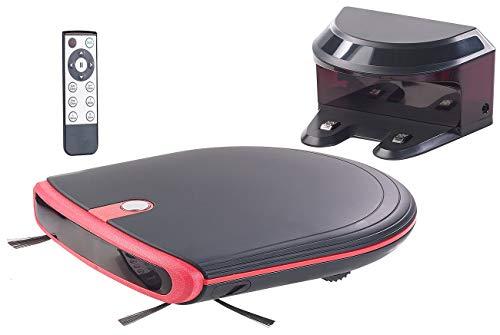 Sichler Haushaltsgeräte Saugrobotor: Ultraflacher Reinigungs- & Staubsauger-Roboter, 120 Min. Akku-Laufzeit (Saugroboter mit Wischfunktion)
