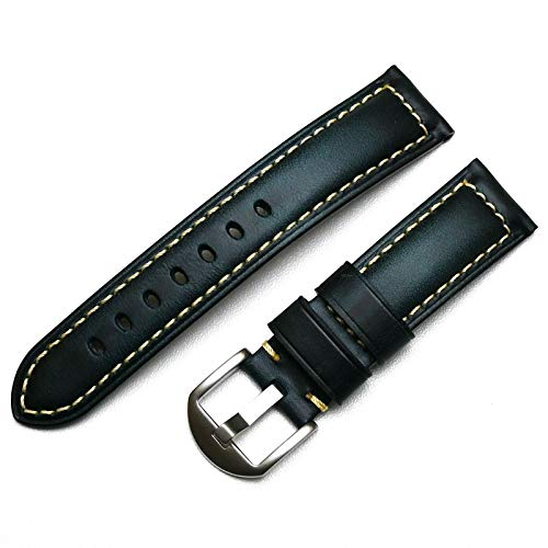ZXF Correa Reloj 20mm 22 mm 24 mm 26mm Hecho a Mano Black Black Black Band Strap Strap Hombres Reloj de Reloj (Band Color : Blue, Band Width : 18mm)