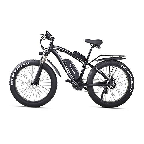 Shengmilo Ebike 1000w Mountainbikes 26 Zoll Fat Bike,Elektrische Fahrrad mit 48V 17Ah Lithium-Akku,21-Gang Elektrofahrräder für Herren Damen
