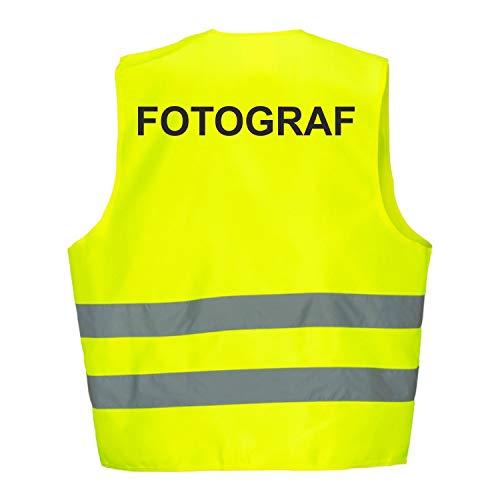 Warnweste GELB Sicherheitsweste Weste Fotograf (Fotograf 1 Weste)