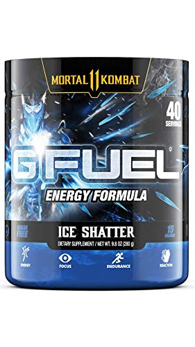 G Fuel Sub Zero's Ice Shatter Elite Energy Powder Inspired by Mortal Kombat, 9.8 oz (40 Servings)