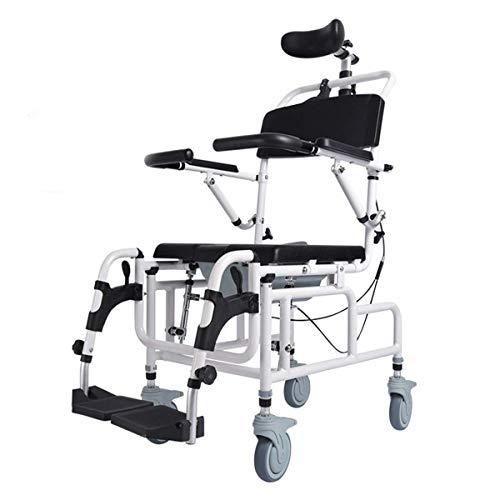 Z-SEAT Silla de baño portátil con Inodoro móvil con Ruedas, Inodoro móvil, Olla fácilmente extraíble, para Almacenamiento, Ancianos, recuperación quirúrgica