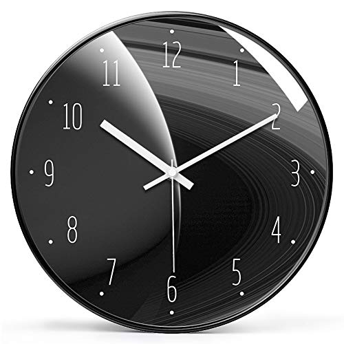 Dkdnjsk 3D Vortex Style Wall Clock, Wall clock home living room fashion clock modern minimalist bedroom silent starry sky clockModern Glass and Metal Wall Clock, Suitable for Library Science Museum or