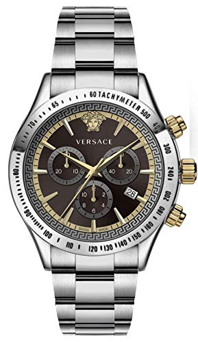 Versace Herren Armbanduhr Chrono Classic 44 D/BRW B/SS V304 VEV7004 19