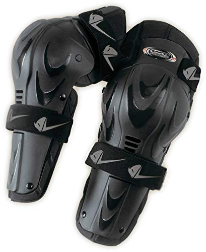 UFO Plast Made in Italy GI02043 Knee/Shin Guards for Kids/Knee Protection Pads/Central Joint/Polyethylene Shells/One Size fits All/for: Motorcycle, Motocross, Snowboard, Ski