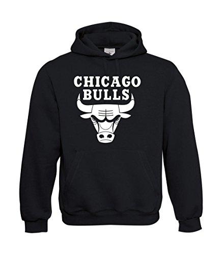 Textilmonster Kapuzenpullover - Chicago Bulls (L, Schwarz)