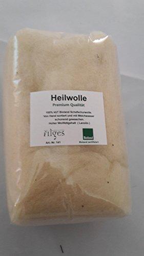 100% Bio Heilwolle mit hohem Lanolingehalt für Haut- und Babypflege