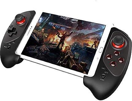 Controlador de Juego inalámbrico, PowerLead Gamepad actualizado Controlador de Juego retráctil inalámbrico Práctico Stretch Pad para Android/iOS - Juego Directo