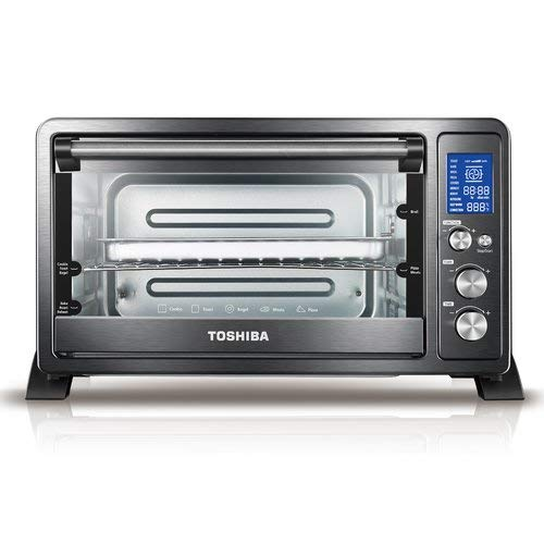 Toshiba AC25CEW-CHBS Digital Convection Toaster Oven, Black Stainless