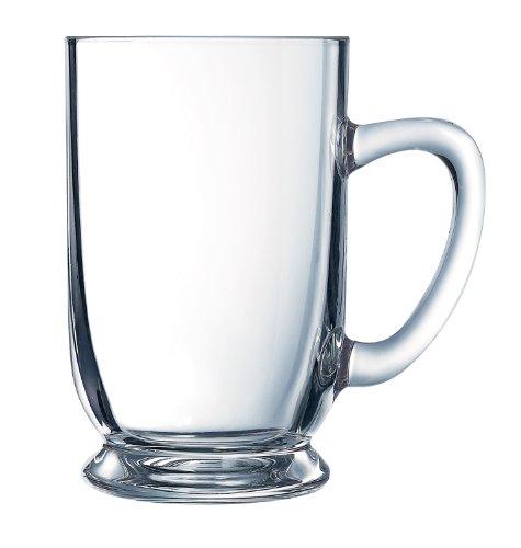 Arc International Luminarc Bolero Mug, 16-Ounce, Set of 4, Clear