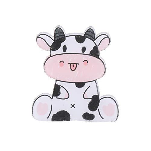 Bonitas vacas niñas mujeres niños fiesta regalo insignias broche maquillaje solapa alfileres anti hebilla ligera (02)